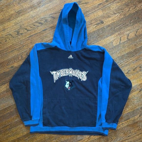 Adidas Shirts Minnesota Timberwolves Hoodie Size Small Poshmark